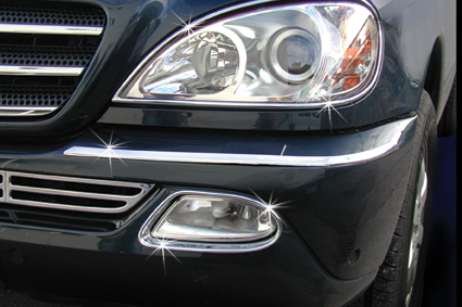 Chrome fog lights frames
