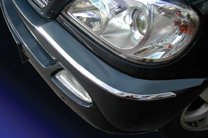 Chrome bumper trims