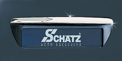Chrome boot lid handle covers