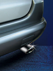 Chrome exhaust tail pipe
