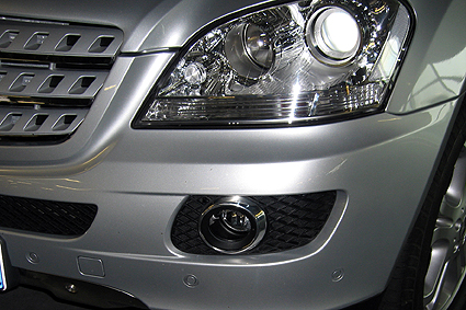 Chrome trims for fog lamps