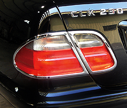 Chrome taillight frames
