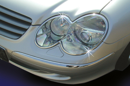 Chrome headlight frames