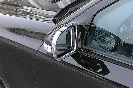 Chrome outside mirror frames