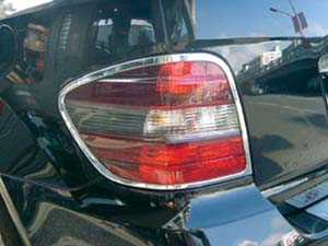 Chrome rear light frames