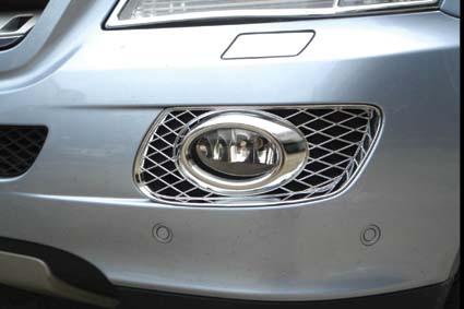 Chrome fog lamp frames, oval