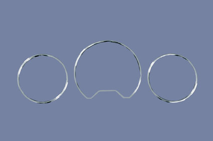 Chrome speedometer rings