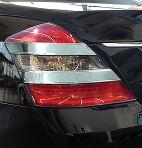 Chrome strips in the rear lights