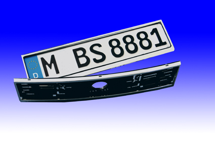Chrome number plate holders